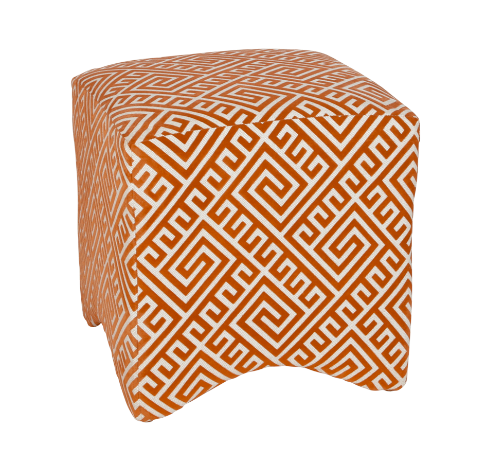 Tahla Orange Ottoman Rental Bright Rentals