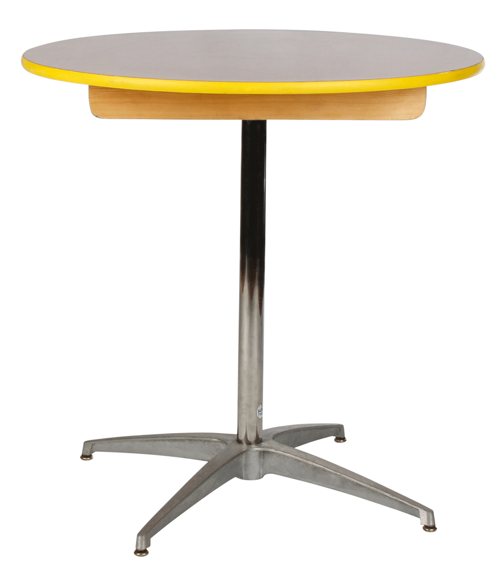 Cocktail table 30 round x 30 high rentals bright rentals for Cocktail tables high